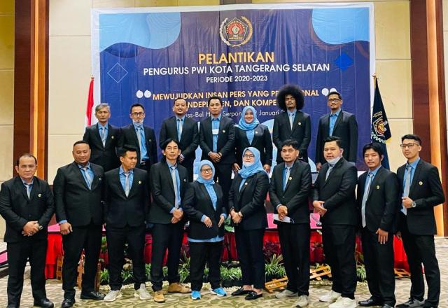 Resmi Dilantik, Kepengurusan PWI Kota Tangsel