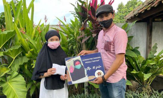 Aisyah Alusa, Bocah Yatim Piatu Dapat Bantuan Dari PWI Tangsel